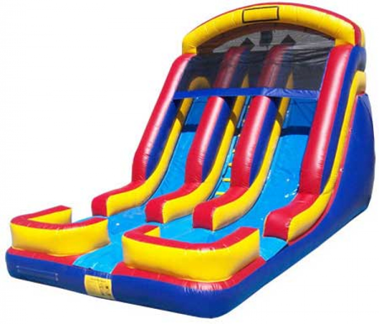 18' Dual Lane Wet/Dry slide (DRY)